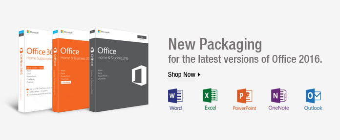 New packaging for the latest versions for office 2016