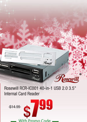 Rosewill RCR-IC001 40-in-1 USB 2.0 3.5 inch Internal Card Reader