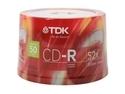 TDK 700MB 52X CD-R 50 Packs Spindle Discs Model 47896