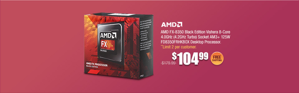 AMD FX-8350 Black Edition Vishera 8-Core Desktop Processor