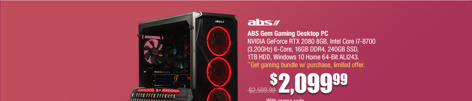 ABS Gem Gaming Desktop
