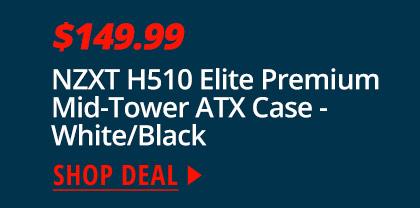 NZXT H510 Elite Premium Mid-Tower ATX Case - White/Black