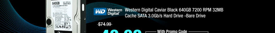 imgA - Western Digital Caviar Black 640GB 7200 RPM 32MB Cache SATA 3.0Gb/s Hard Drive -Bare Drive