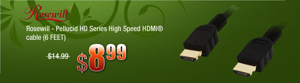 Rosewill - Pellucid HD Series High Speed HDMI® cable (6 FEET)