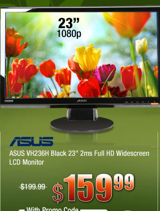 ASUS VH236H Black 23 inch 2ms Full HD Widescreen LCD Monitor