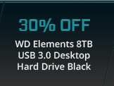 WD Elements 8TB USB 3.0 Desktop Hard Drive Black