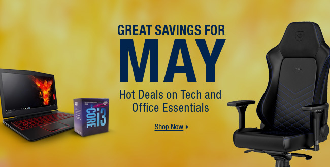 Great Savings for May