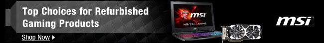 MSI - Top Choices for Refurbished Gaming Products