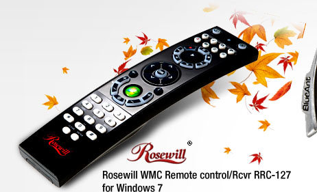 Rosewill WMC Remote control/Rcvr RRC-127 for Win 7