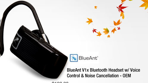 BlueAnt V1x Bluetooth Headset w/ Voice Control & Noise Cancellation - OEM