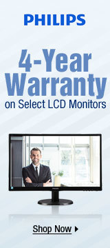 4-Year Warranty on Select LCD Monitors