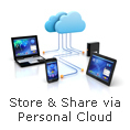 Store & Share via Personal Cloud