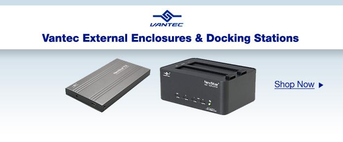 Vantec External Enclosures & Docking Stations