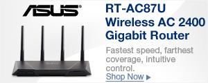 RT-AC87U Wireless AC 2400 Gigabit Router