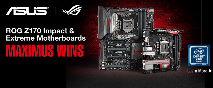 ROG Z170 impact & extreme motherboard