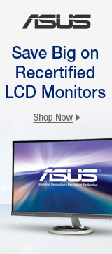 Save big on recertified LCD monitors