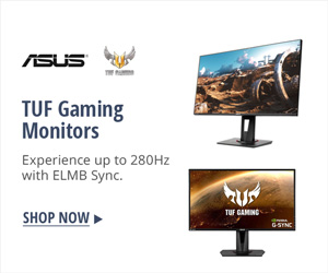TUF gaming monitors