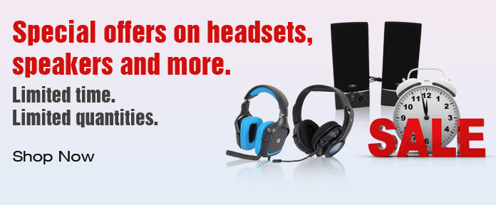 Special offers on headsets, speakers and more