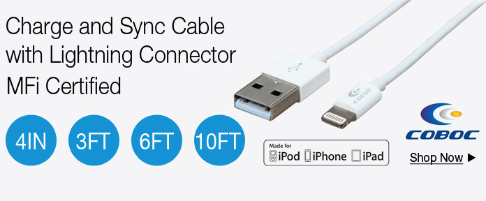 Charge & Sync Cable with Lightning Connector MFi Certified