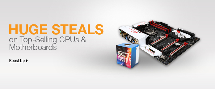 Huge steals on top-selling CPUs & motherboards