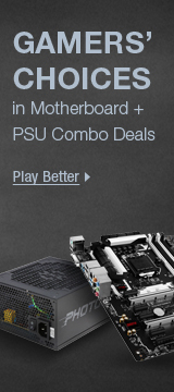 Gamers' choices in motherboard + PSU combo deals
