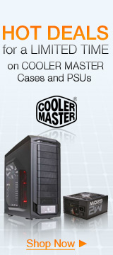 HOT DEALS for a LIMITED TIME on COOLER MASTER Cases and PSUs