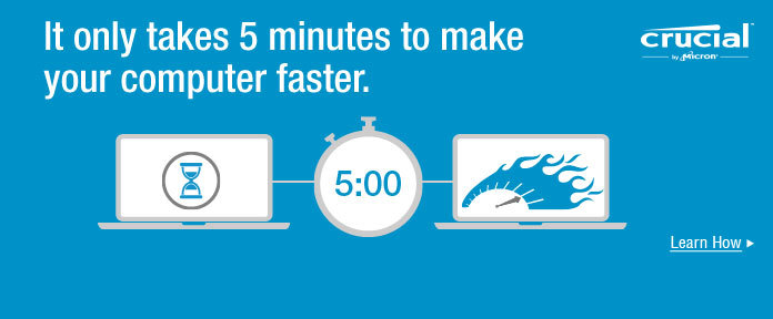 It only takes 5 minutes.
