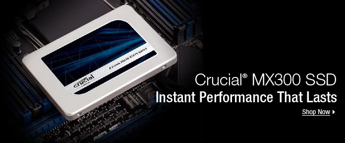 Crucial® MX300 SSD instant performance