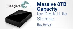 Massive 8TB Capacity
