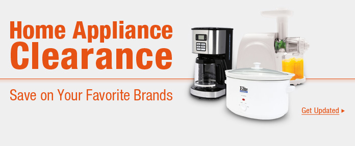 Home appliance clearance
