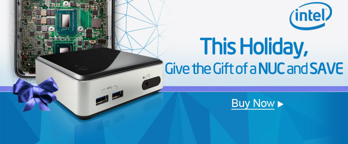 this holiday, give the gift of a NUC