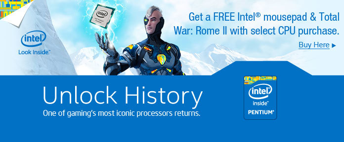 Get a FREE Intel mousepad & Total War: Rome II with select CPU purchase