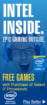 INTEL INSIDE. EPIC GAMING OUTSIDE.