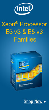 Intel® Xeon® Processor E3 v3 & E5 v3 Families.