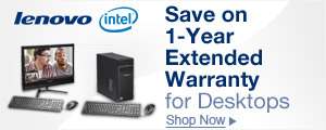 Save on 1-year extended warranty