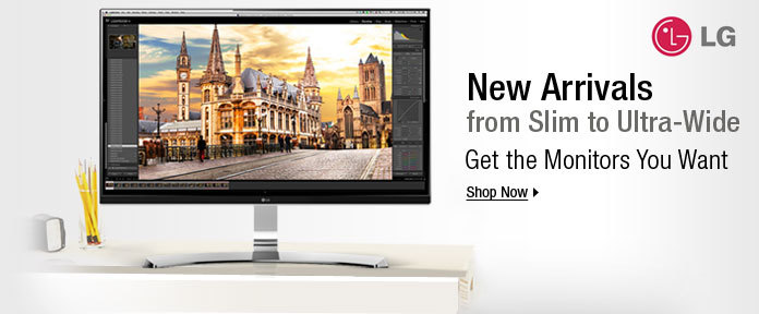 New arrivals from slim to Ultra-Wide, get the monitors you want