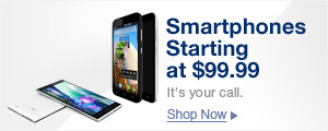 Smartphones starting at $99.99