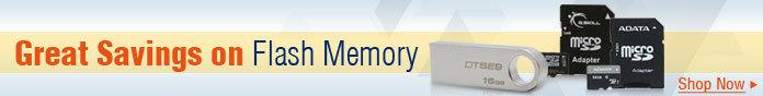 Great savings on Flash memory