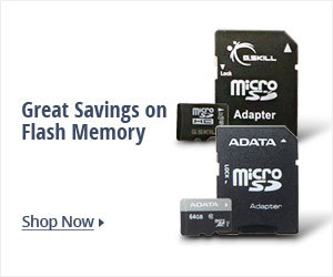 great savings on flash memory