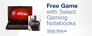 Free Game with Select Gaming Notebooks