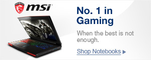 MSI: NO. 1 IN GAMING