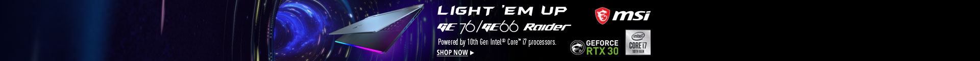 Powered by 10th gen intel ore i7 processors