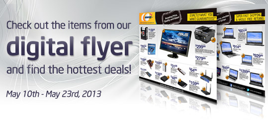 Check out the items from our digital flyer and find the hottest deals!