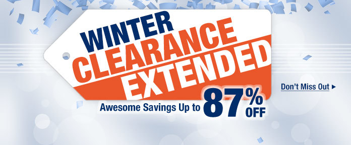 Winter Clearance Extended
