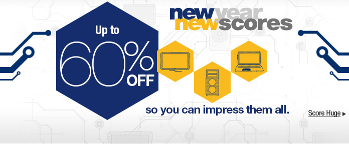New Year New Scores: Up to 60% off so you can impress them all.