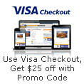 Use Visa Checkout Get$25 off with promo code