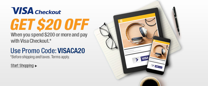 Get $20 off When You Pay with Visa Checkout