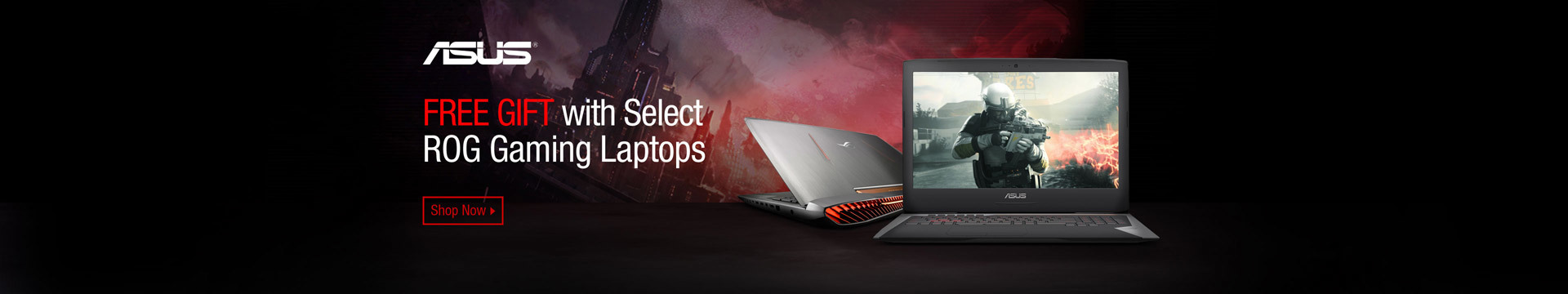 Free Gift with Select ROG Gaming Laptops