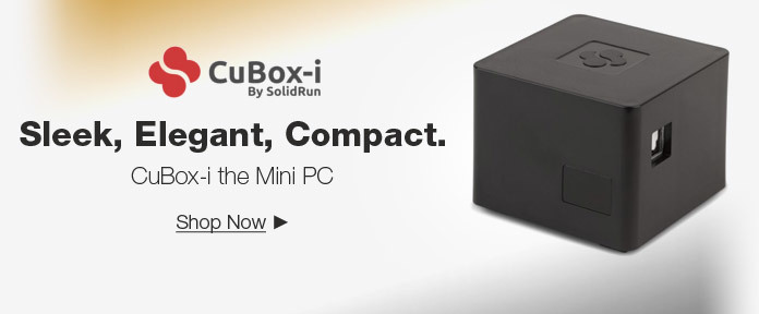 Sleek, Elegant, Compact. CuBox-i the Mini PC