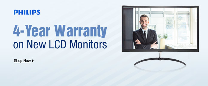 4-Year Warranty on New LCD Monitors